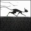 black cat wall tim burton vincent