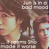 jun bad mood worsen by sho