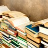 Stock: Books Stacked Against the Wall