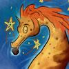 diving, shiny, seahorse