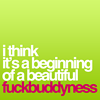 words 'i think its the beginning of a be