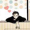 Doumeki Shizuka: bored window hearts