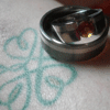 wedding rings & shamrock