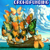 Crowdfunding butterfly ship