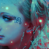 ♥ƹ̵̡ӝ̵̨̄ʒ♥°``'まりい'``°♥ƹ̵̡ӝ̵̨̄ʒ♥: blue glowy sparkly girl