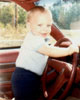 Me driving when I was a baby