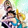 eiliem: Luffy Bon-chan hug