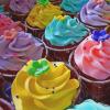 colour cupcakes