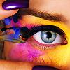 Глаз на цветном лице