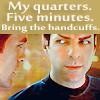 Kirk my quarters five min