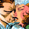 "Remy and Rogue's first ""kiss"""