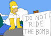 Homer Do Not Ride The Bomb
