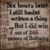 six hours writing