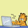 _stolendreams_: General - Garfield - Typing on laptop