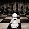 Chess game - white pawn