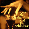 absinthe and whiskey