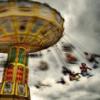 Exited Flying Fun Lights Swings