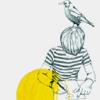 bird on boy