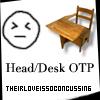 headdesk ☂ it is my OTP