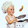 vintage → pancake baby