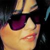 demi purple glasses