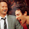 Q: HIMYM: Barney & Ted laughing
