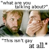 a riot of confused people: not gay at all