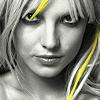 slippingunderr: britney yellow hair streaks
