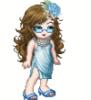 девочка в голубом