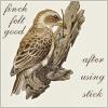 ♠ ミーサ ♠: Finch felt good after using stick