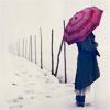 зонт, снег