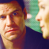 Booth watching Brennan in profile