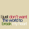 Random - The world breaks my heart