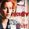 Nikki: xfiles: scully does not approve
