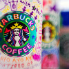 飲み物: colorful starbucks