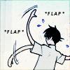 Stilted attempts at conversation: Flap flap flap