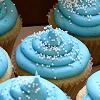 FOOD blue cupcakes