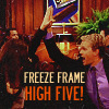 trichinopoly ash: barney: freeze frame high five!