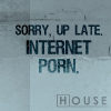 [quote] internet porn, [house] house was asleep