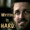 Writing is hard.