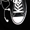 stock - black chucks