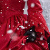 Katlinel the Darkeyed: Red Dress in Snow