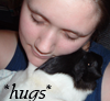 Guinea pigs: Bozzie and me hugs