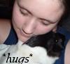 Guinea pigs: Bozzie and me hugs