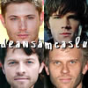 Dean, Sam, Castiel, and Lucifer