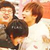 彡  ● ● 베 ● ● ←: flail together
