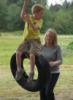 Jaden, tire swing