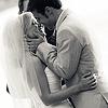KrisKaty wedding kiss bw made by vanya_e