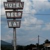 fannishliss: motel beer eat