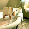 reading in tub